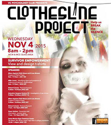 image of flyer fo the ClothesLine Project