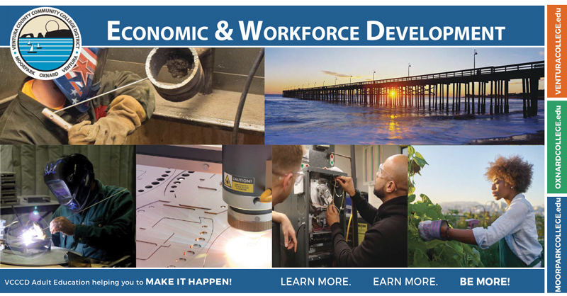 Economic & Workforce Development. VCCCD Adult Education helping you to MAKE IT HAPPEN! Learn More. Earn More. Be More!