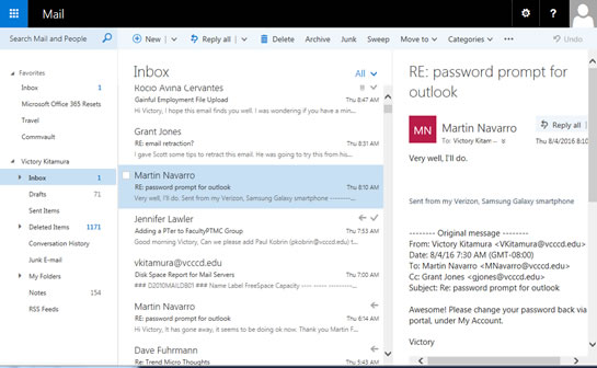 Using Outlook Web App   Ventura County Community College District