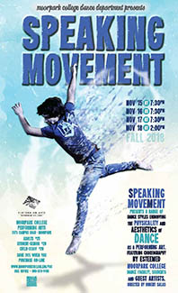 image of flyer for the Speaking Movement Dance Concert