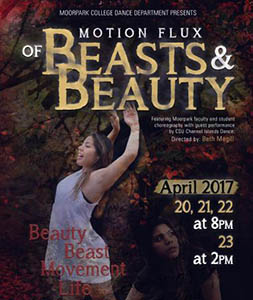 image of flyer for the Motion Flux Dance Performance