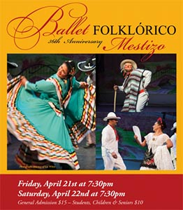 image of flyer for the Ballet Folklorico Mestizo 36th Anniversary