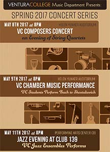 image of flyer for VC Spring Concert Series