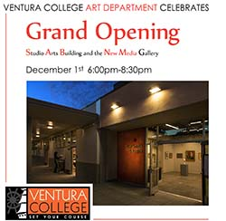image of flyer for the Grand Opening New Media Gallery
