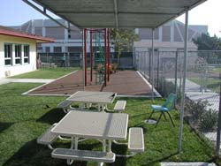 Photo of another view of exterior of Child Development Center