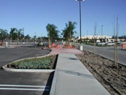 Photo of alternate view of new North Parking Lot