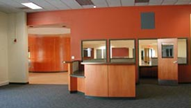 Photo of interior of remodeled Student Services Building