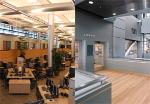 Photo of Interior of New Learning Resource Center