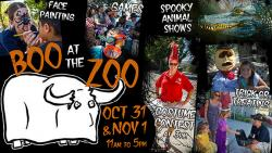 image of flyer for the Boo at the Zoo! Family-Friendly Halloween Event at Moorpark College
