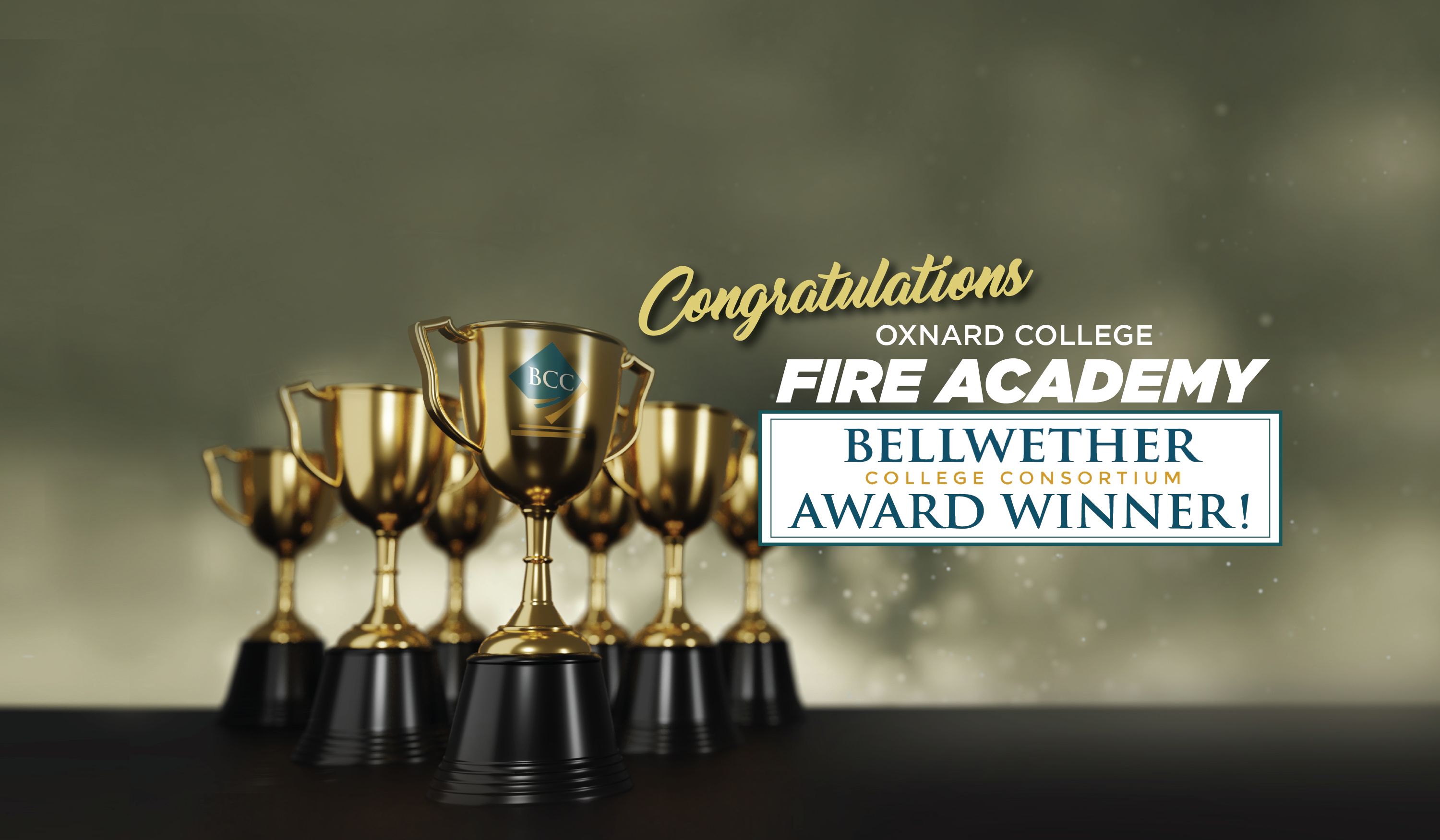 Congratulations Oxnard College Fire Academy Bellwether Award Winner!