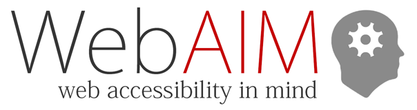Text reads, WebAIM, web accessibility in mind