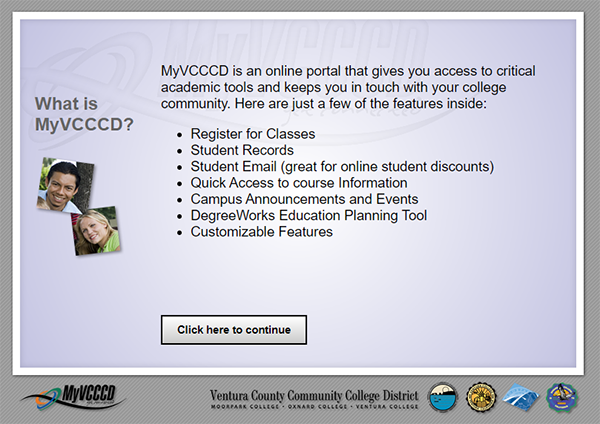 Information about what is provided with your MyVCCCD account