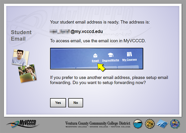 Your student email address