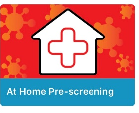 Screenshot of the Tile for At home Pre-Screening on the MyVCCCD Mobile App