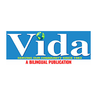 Vida Logo, with Text that Reads: Serving our community since 1983. A Bilingual Publication