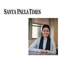 Santa Paula Times Logo and a photo of Lauren Rosenthal