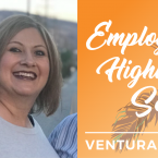 Alma Rodriguez and text that reads: Employee Highlight Series Ventura College