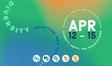 Decorative graphic with text that reads: Diversity, Equity and Inclusion Week APR 12 - 15